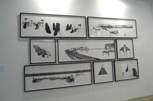 Yee I-Lann's 'Picturing Power' series finally gets a proper debut in Asia at Silverlens' booth at the fair after having exhibited the series in Europe and America.