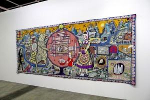 Grayson Perry 'Map of Truth and Beliefs' (2011) at Art Basel HK.