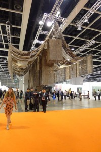 Gu Wenda's installation at the 'Discoveries' section in Art Basel HK.