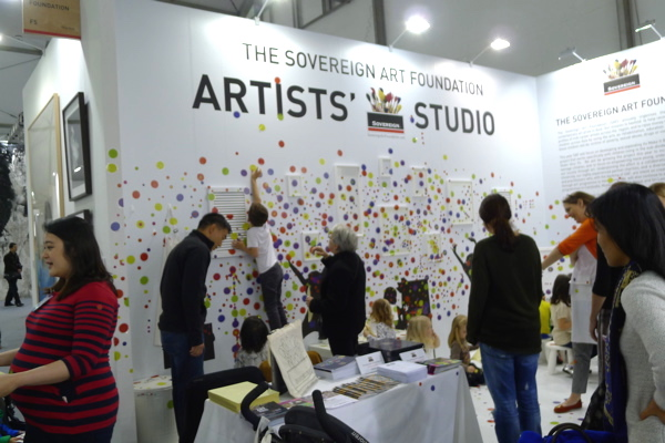 SeA hive of activity: The Sovereign Art Foundation's children art booth at Art Central.