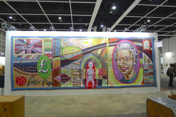 Grayson Perry's large embroidery at ABHK.