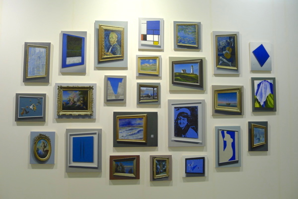David Klamen's blue paintings at Richard Gray gallery, ABHK.