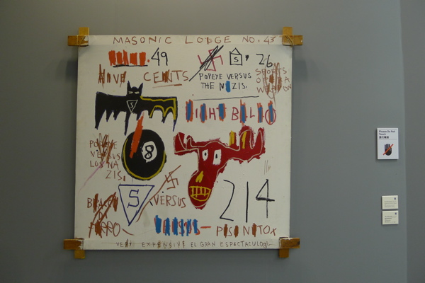 The only Jean-Michel Basquiat I saw at ABHK.